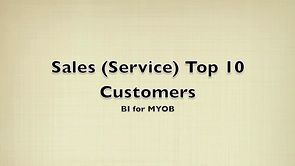 Sales (Service) Top 10 Customers